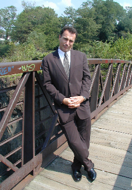 AL Sapienza returning to the scene of the crime at the Paterson Falls, in New Jersey